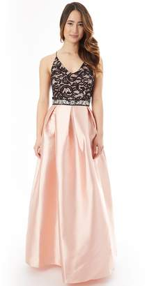 Iz Byer Juniors' Pleated Lace Prom Dress