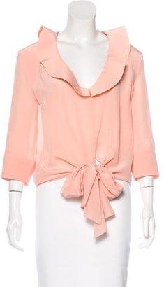 Balenciaga Silk Cropped Blouse