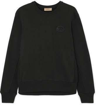Burberry Appliquéd Cotton-jersey Sweatshirt - Black