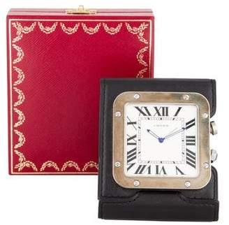 Cartier Santos Travel Alarm Clock