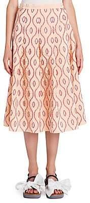 Marni Women's Taffeta Pleated Skirt