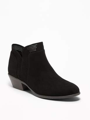 Old Navy Perforated Faux-Suede Ankle Boots for Women