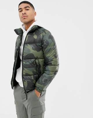 Pull&Bear puffer jacket in camo
