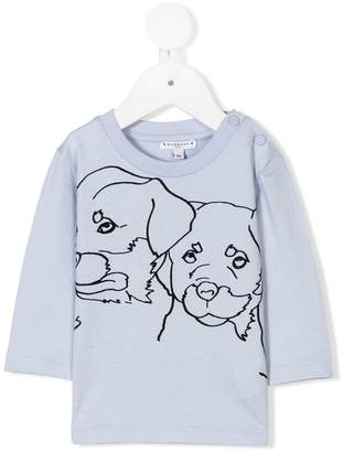 Givenchy Kids dog illustration T-shirt