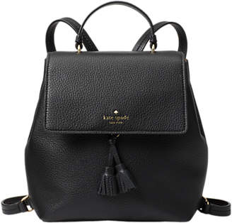 Kate Spade Hayes Street Teba Leather Backpack, Black