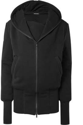 Ann Demeulemeester Hooded Cotton-jersey Jacket - Black