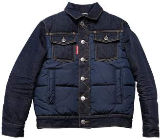 DSQUARED2 Nylon & Denim Puffer Jacket