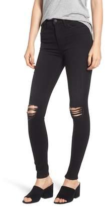 Hudson Barbara Ripped High Waist Super Skinny Jeans