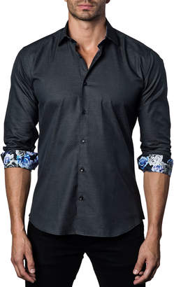 Jared Lang Men's Semi-Fitted Rose-Cuff Sport Shirt