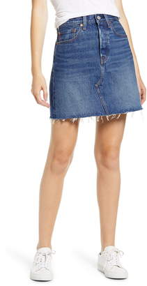Levi's High Waist Cutoff Denim Skirt
