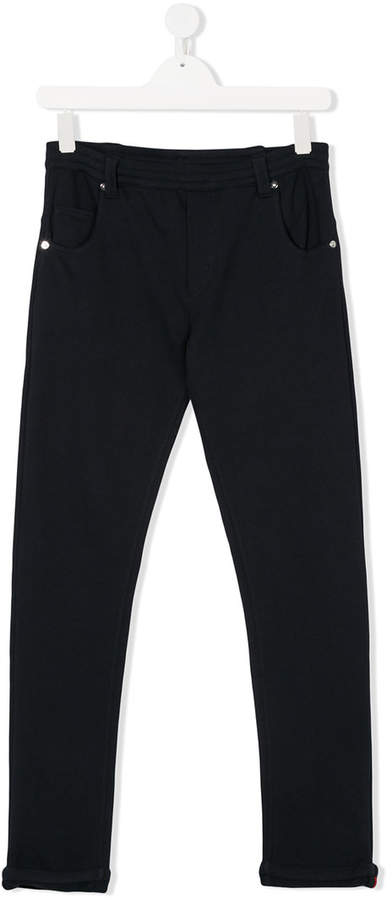 logo patch trousers