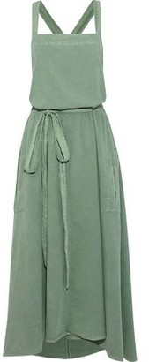 The Great The Apron Belted Washed Cotton-Poplin Midi Dress