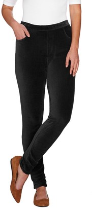 Denim & Co. Pull-on Stretch Knit Cord Leggings
