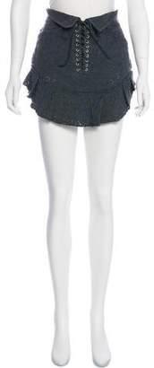 Isabel Marant Eyelet Mini Skirt