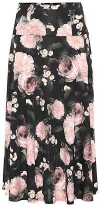 Erdem Elvin floral jersey skirt