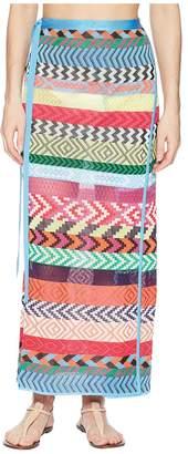 Mary Katrantzou Evaris Skirt Fira Stripe Knit Cover-Up Women's Swimwear