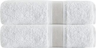 BEIGE Enchante Set Of 2 Unique Stripe Bath Towels