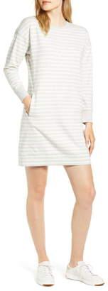 Vineyard Vines Striped Long Sleeve Sweatshirt Dress
