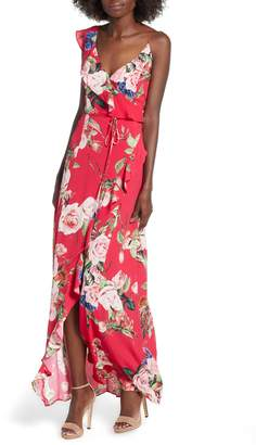 AFRM Bowen Wrap Maxi Dress