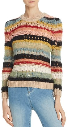 Alice + Olivia Carly Mixed Yarn Sweater $295 thestylecure.com