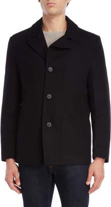 Michael Kors Black Wool Car Coat