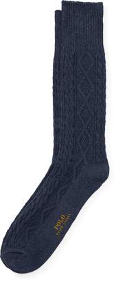 Ralph Lauren Aran-Knit Boot Sock
