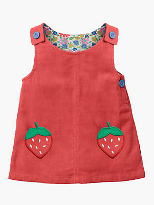Boden Mini Baby Corduroy Pocket Dress, Jam Red
