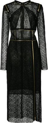 zip details lace dress