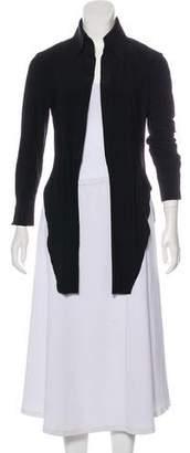 Norma Kamali Long Sleeve High-Low Top