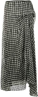 Theory asymmetric midi skirt