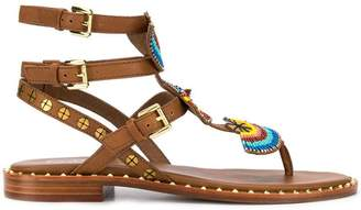 f2356aa7ccf12 Flat Sandals With Bead Embellishment - ShopStyle UK