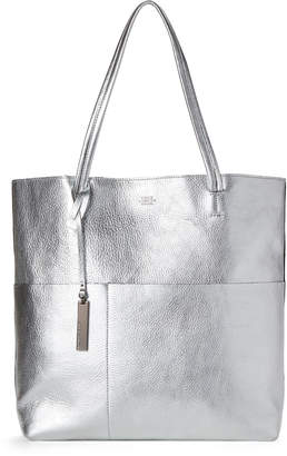 Vince Camuto Silver Leather Tote