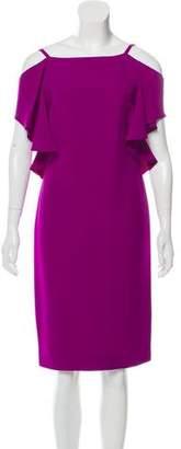 Ralph Lauren Purple Label Silk Off-The-Shoulder Dress