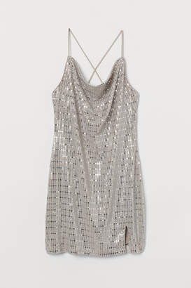 H&M Shimmery Dress - Beige