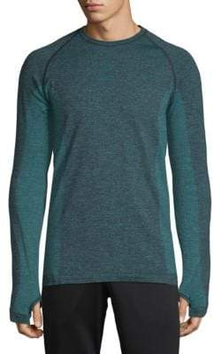 Cross X Seamless Raglan-Sleeve Top