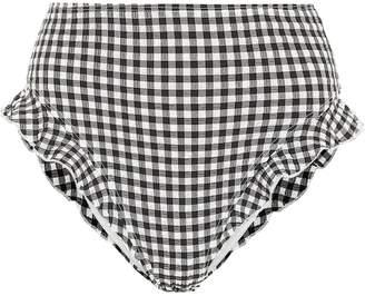Solid & Striped Lana high-rise gingham bikini bottoms