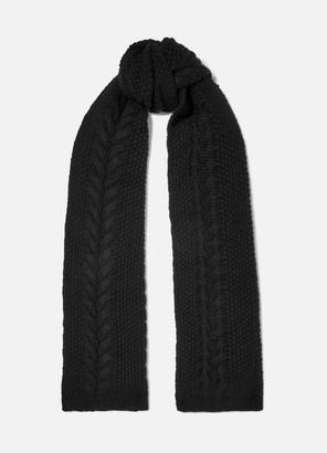 Portolano Cable-knit Cashmere Scarf - Black
