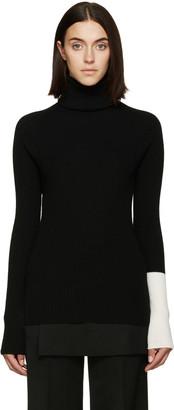 Yohji Yamamoto Black Rib Knit Turtleneck $810 thestylecure.com