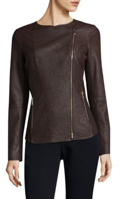 Lafayette 148 New York Aimes Leather Jacket $898 thestylecure.com
