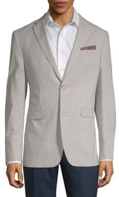 Original Penguin Gingham Long-Sleeve Blazer