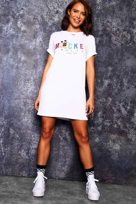 boohoo Disney Rainbow Mickey Tshirt Dress