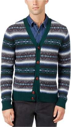 Tommy Hilfiger Mens Wool Pattern Cardigan Sweater XXL