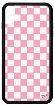 Wildflower Cases Pink Checkers iPhone Xs Max Case