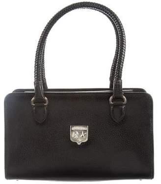 Kieselstein-Cord Textured Leather Satchel