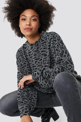 NA-KD Na Kd Textured Leopard Top Grey Leopard