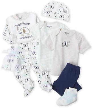Baby Gear Newborn Boys) 9-Piece Elephant Hanging Gift Set