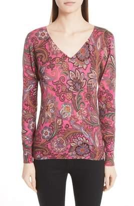 Etro Paisley Silk & Cashmere Sweater
