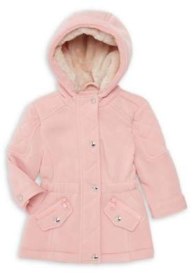 Urban Republic Girl's Faux Fur-Lined Hooded Anorak Jacket