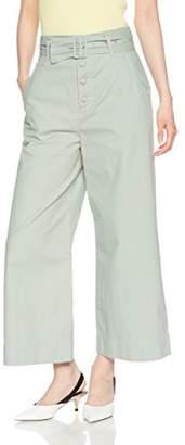 Jill Stuart (ジル スチュアート) - [ジル バイ ジルスチュアート] ボタンドデニム レディース 125-8130006 グリーン 日本 S (日本サイズS相当)