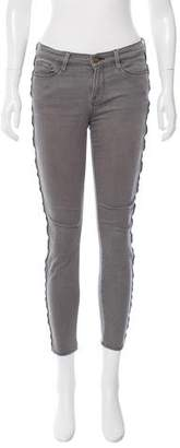 Frame Zip Accent Skinny Jeans
